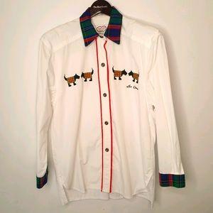 Vintage Shirt Size M-L with Scottie Dogs!